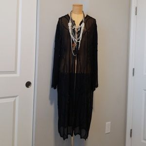 Vintage beaded sheer blouse